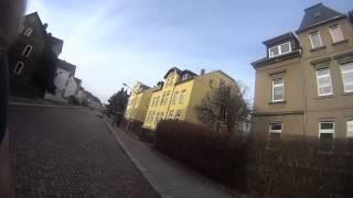 preview picture of video 'Mittweida kurzstrecke mit dem E-Bike Fahrrad unterwegs! 18.01.2014'