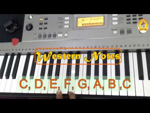 Learn to Play Piano/Keyboard Online Lesson - CL04 (Learn Western Notes on Keyboard)