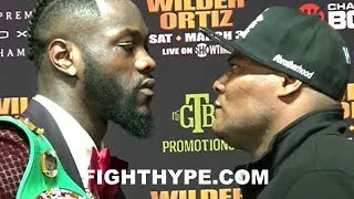 (SH*T JUST GOT REAL) DEONTAY WILDER AND LUIS ORTIZ GO AT IT; REFUSE TO BREAK DURING HEATED STAREDOWN