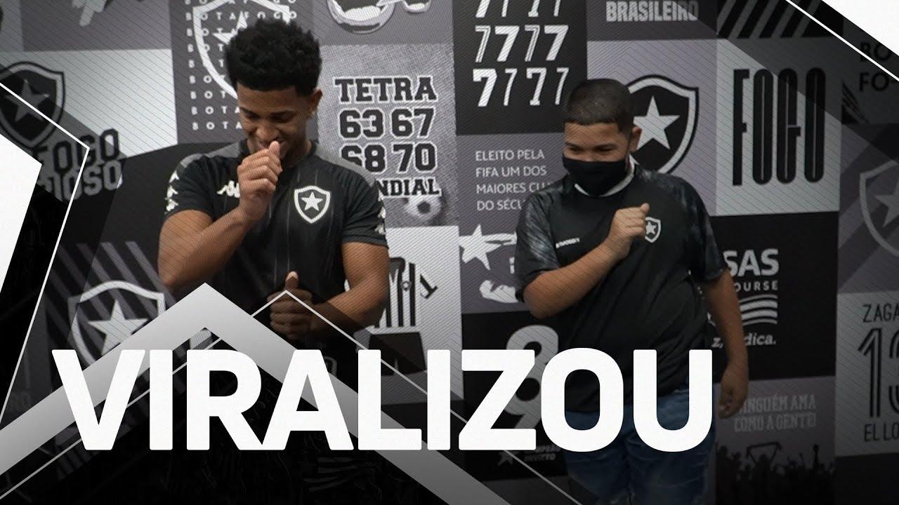 VÍDEO: 'Gordin do TikTok' visita o Botafogo, realiza sonho e promete mais dancinhas