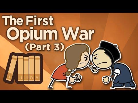 První opiová válka: Politika dělových člunů
