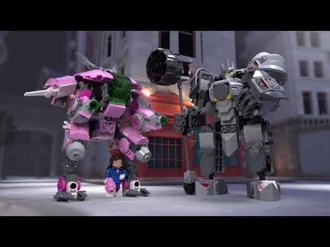 Vidéo LEGO Overwatch 75973 : D.Va et Reinhardt