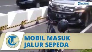 Viral Video Mobil Mewah Masuk di Jalur Sepeda Permanen di Kawasan GBK, Sopir Bunyikan Klakson