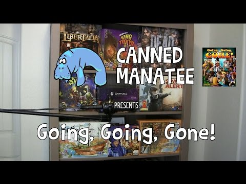 Canned Manatee Presents: Going, Going, Gone - Review & How to Play