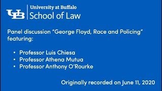 A faculty panel discussion featuring School of Law Professors Luis Chiesa, Athena Mutua and Anthony O'Rourke.