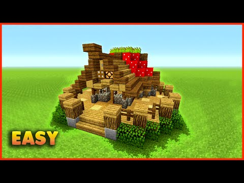 Minecraft: How To Build A Small Mushroom House Tutorial Easy Small Survival House MinecraftVideos TV