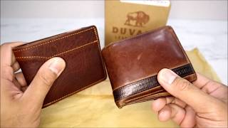 Best Deluxe Bi-Fold Wallet Duvall Leatherwork for Men Hand Crafted - Review