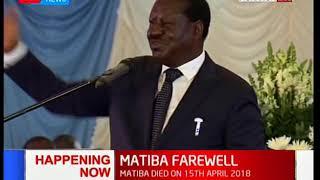 Raila Odinga describes the scenes under which Matiba's wife was attacked by machete men