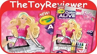 Barbie Crayola Color Alive Action Coloring Pages Unboxing Toy Review By TheToyReviewer