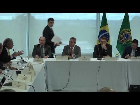 Reunião com Presidente Jair Bolsonaro e seus Chefes de Estado