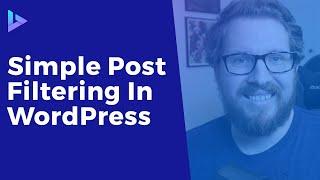 Simple Frontend Post Filtering in WordPress   Custom Taxonomy Filter