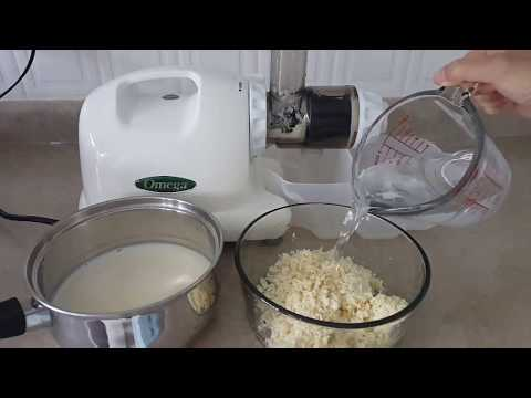 How to make soy milk in a juicer