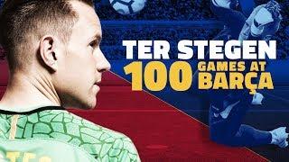 Ter Stegen celebrates 100 games with Barça