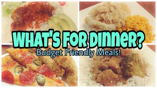 What's For Dinner?   Easy & Budget Friendly Meal Ideas