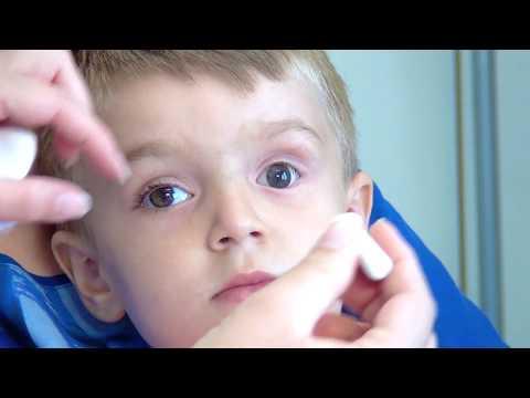 Siccome i vermi al bambino di una fotografia sono mostrati