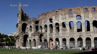 preview picture of video 'UHD Ultra HD 4K Video Stock Footage Rome Colosseum Famous Sightseeing Travel Landmark Day Night'