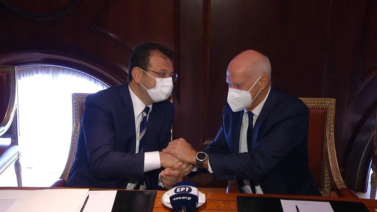 Συνάντηση του Γ. Παπανδρέου με τον δήμαρχο Κωνσταντινούπολης