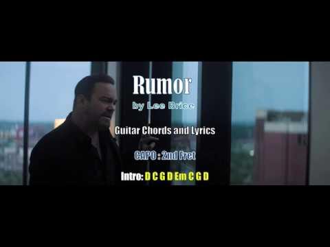 Rumor by Lee Brice - Guitar Chords and Lyrics