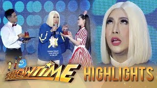 Vice's reaction to Ion and Jackque's iced tea   It's Showtime KapareWho