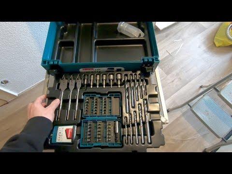Makita Bohrer und Bit Set Zubehörkoffer B-43044 - Unboxing