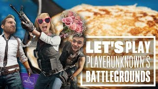 Let's Play PUBG gameplay with Chris, Aoife and Ian - The Pancake Cupid Challenge!