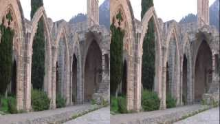 preview picture of video 'North Cyprus, Bellapais 3D HSBS'
