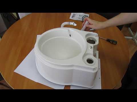 Как снять и установить шланг смыва биотуалета (включите субтитры!)