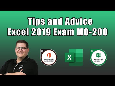 Excel 2019 Exam MO-200 - Tips and Advice - YouTube