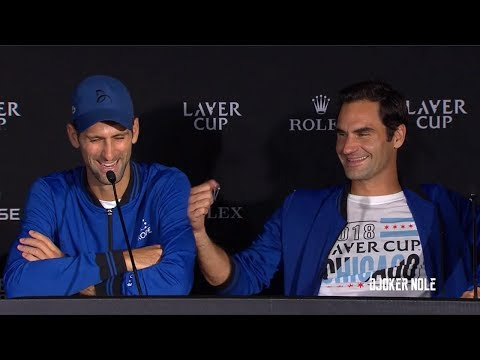 Federer & Djokovic FUNNY after winning trophy - Laver Cup 2018 (HD)