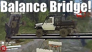 SpinTires MudRunner: THE BALANCE BRIDGE!! Multiplayer Gameplay