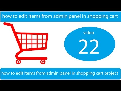 how to edit items from admin panel in shopping cart project
