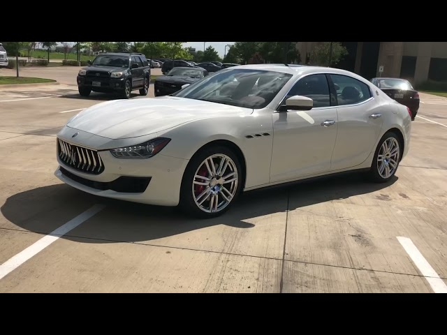 Pre-Owned 2018 Maserati Ghibli S RedLeather BlindSpotDetection 20UranoWheelPkg ParkAssist