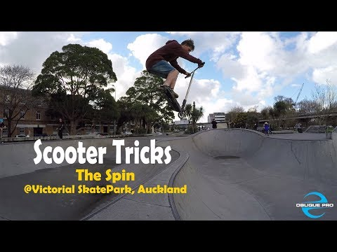 Scooter Tricks over the Spin @ Vic Park, Auckland