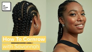 How To Cornrow Braid Your Own Hair | Cornrow Tutorial For Beginners