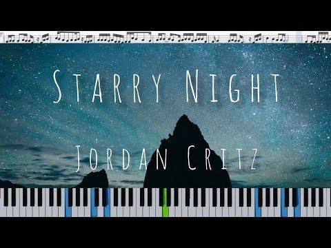 Jordan Critz - Starry Night (кавер на пианино + ноты)