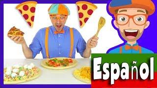 Canción De La Divertida Pizza Por Blippi Español | Comida Para Niños
