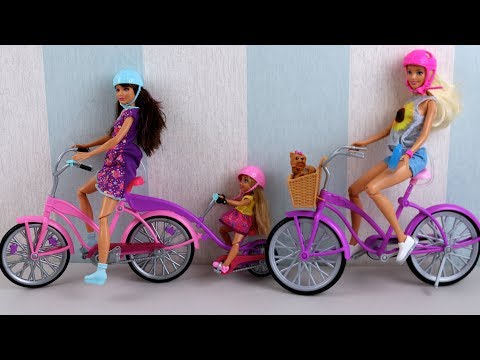 Barbie Camping Fun Bikes -Unboxing Review Play Barbie Dolls and Bikes 2017 New Christmas Toys