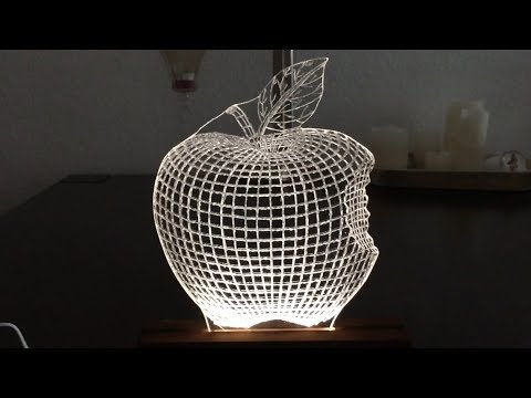 LED 3D Lampe aus Plexiglas selber bauen - DIY