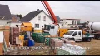 preview picture of video 'Beton für die Erdgeschoss Decke  | Bautagebuch Bergheim'