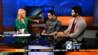 KTLA (mai 2012) - Tyler Hoechlin et Dylan O'Brien