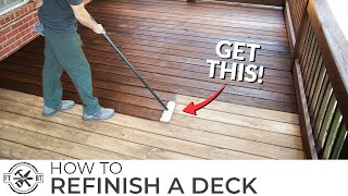 How to Stain a Deck the Easy Way (Best Tools to Refinish)