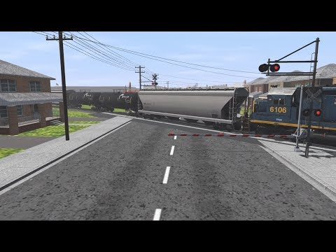 Trainz Amtrak Train With Superliner Cars Pulls Into The Sta