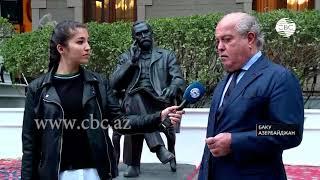 В Баку открыли памятник Альфреду Нобелю