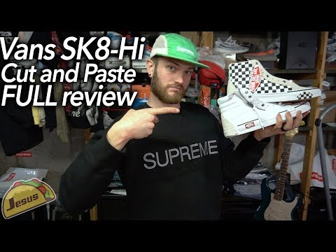 Vans CAP SK8-Hi LX cut and paste off-white style sneakers | detailed review