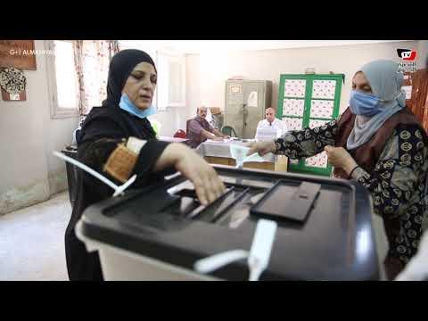 توافد المواطنين على لجان السيدة زينب للتصويت في انتخابات مجلس الشيوخ