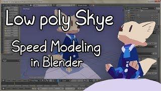 Low Poly Skye (Zootopia) - Speed Modeling