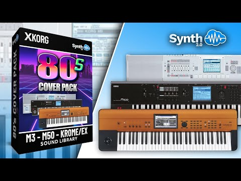 80s COVER PACK | KORG KROME EX M3 M50 SOUND BANK | Synthcloud Library