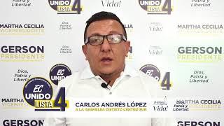 Carlos Andrés López, Candidato Asambleísta del Ecuador 2021.