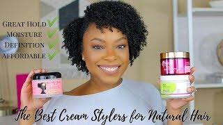 THE BEST CREAM STYLERS FOR TYPE 4 NATURAL HAIR!! | TOP 5 MOISTURIZING STYLERS WITH GREAT HOLD!!
