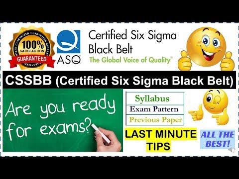 Lean Six Sigma Black Belt certification online | How to Pass ASQ exam